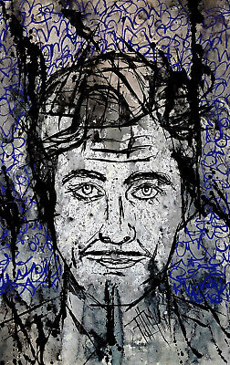 EROLL FLYNN Original Neo-Iconography Contemporary Popstract Painting BY DLM