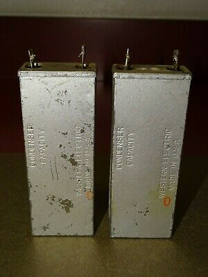 Pair, Western Electric Type 122 A Condensers, 1 MFD, Good