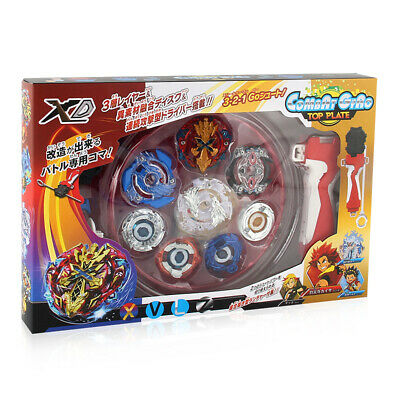 XD168-1 Beyblade Battle Tops Fight Gyro Toys Booster  With Handle Launcher wh
