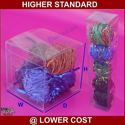 """50~ 5x3x1/"""" Plastic PVC Pillow Box with Side Hang Tab Retail Display Favor Boxes"""