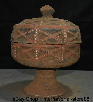 """12.4"""" Collect Old Chinese Han Painting Pottery Dynasty Palace Incense Burner"""
