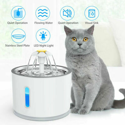 LED USB Automatic Electric Pet Water Fountain Cat/Dog Drinking Dispenser/filter