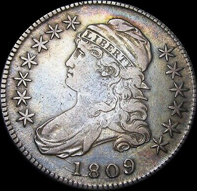 1809 Capped Bust Half Dollar Silver US Coin ----  Type Coin   ----  #T001