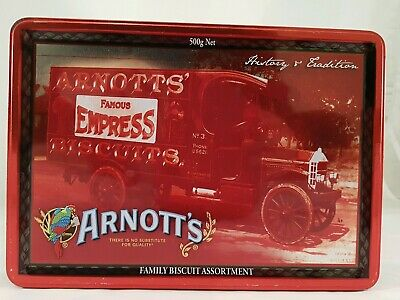 Arnotts  Red Biscuit tin History & Tradition Famous Express truck