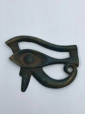 Rare EGYPTIAN ANTIQUES EGYPT EYE OF HORUS Ra Good Health Carved STONE BC