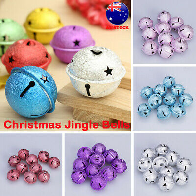 10pc DIY Silver Bell Copper Christmas Jingle Pendant Loose Bead Making Craft