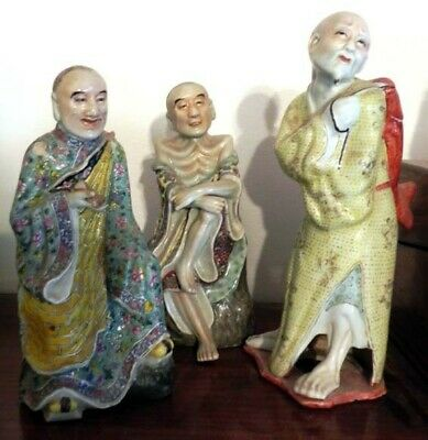 Three Antique Chinese Porcelain Figurines