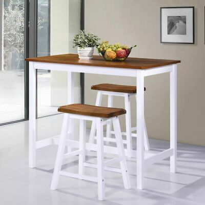 Dining Table Breakfast Bar Table and Stools Chairs Kitchen Furniture Set Modern
