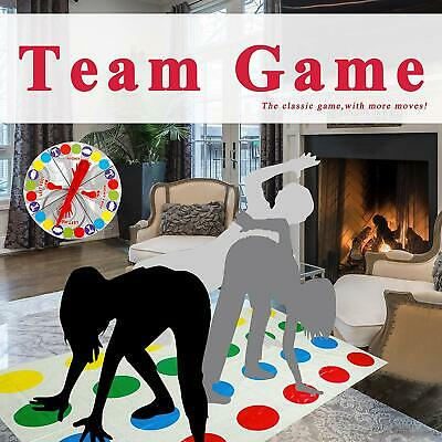 New Funny Twister The Classic Game Body Game With 2 More Moves Family Party Game