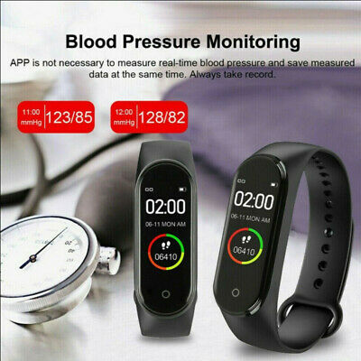 Smart Watch M4 Band Blood Pressure Bracelet Wristband Fitness Tracker Heart Rate