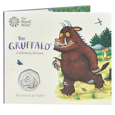 The Gruffalo and the Mouse 2019 50p BU Coin In Official Royal Mint Sealed Folder