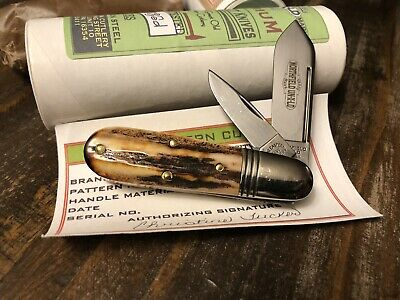 Great Eastern Cutlery GEC 252208 Burnt Stag #3 Barlow Knife 1of27 23 Serialized