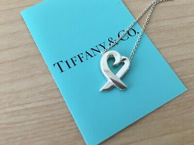 Authentic Tiffany & Co. Loving Heart Necklace 925 Sterling Silver