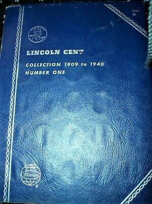 (79) Coins Lincoln Wheat Cent 1909-1940 In Whitman 3-Page Album  Book # 9004