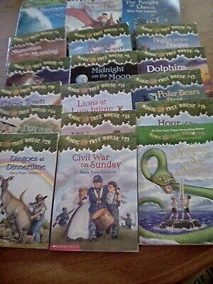 Lot of 18 Magic Tree House books by Mary Pope Osborne