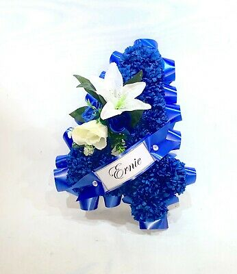 Artificial silk funeral flower Letters/Numbers tribute memorial - ANY