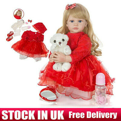 Real Life Like Silicone Reborn Dolls Baby Boy Newborn Toddler Doll Gift Toy