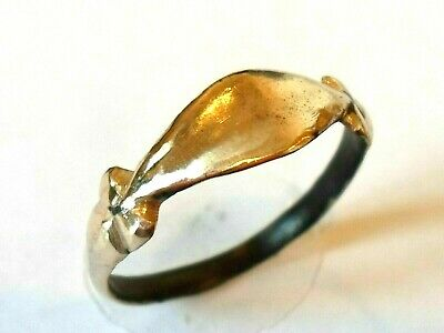 Christmas Gift,Detector Find & Polished,200-400 A.d Roman Bronze Ring.