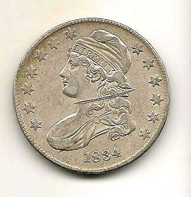 1834 Capped Bust Half Dollar : XF Details
