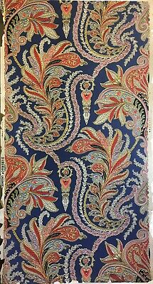 Beautiful Antique 19th C. French Zuber Paisley Wallpaper  (W152)