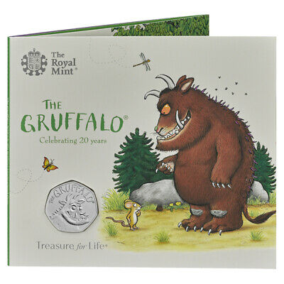 The Gruffalo 2019 50p BU Coin In Sealed Presentation Pack