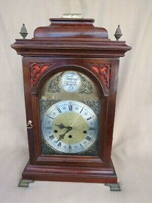 Triple Chime Kieninger Bracket Clock For Spares Or Repair