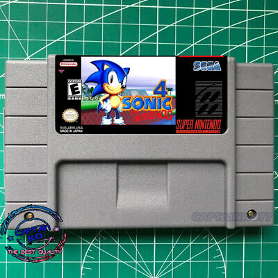 Sonic the Hedgehog 4 ☢ SNES Video Game USA version FREE SHIPPING