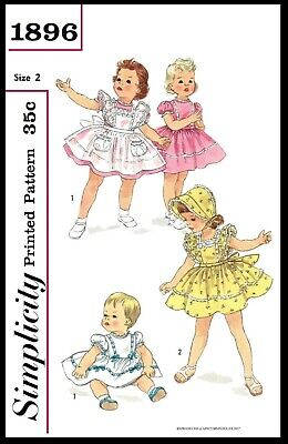 Mail Order # 2705 Pattern Bonnet /& Pinafore DRESS FROCK BABY Toddler Child 1//2//3