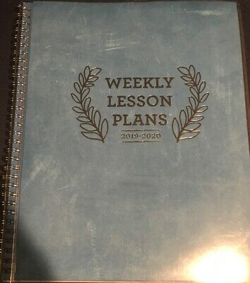 Teacher Lesson Planner: Weekly and Monthly Calendar Agenda 2019-20 - Brand New