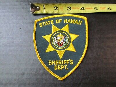 STATE OF HAWAII SHERIFF/'S DEPT SHOULDER IRON ON PATCH