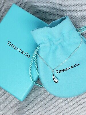 Tiffany & Co. Elsa Peretti Teardrop Necklace Pendant, Sterling Silver