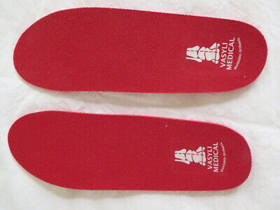 Woman red Vasyli Medical Moldable Orthotic shoe insoles size 8