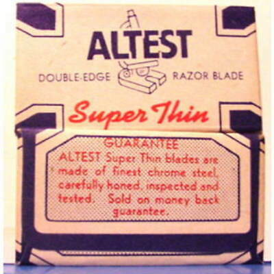 Vintage   ALTEST SUPER THIN MICROSCOPE   DE Safety Razor Blade
