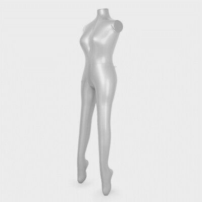 Durable Clothes Display Female Model Full Body Inflatable Mannequin PVC Plastic