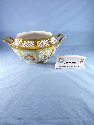 Caverswall Twin Handle Bowl Decorated With Gold Not Sure It Previously Had Lid