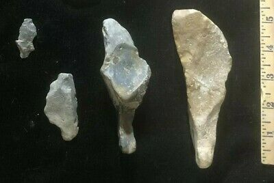LOT - Pre 1600 US - Ancient Stone Tools Arrowheads Authentic Indian Artifacts