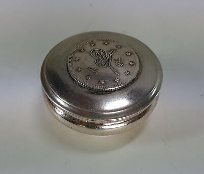 ANTIQUE OTTOMAN ISAMIC SILVER capsule with Silver Coin hall marked