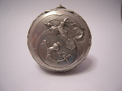 Antique Art Nouveau French Silver Sterling PILL SNUFF BOX