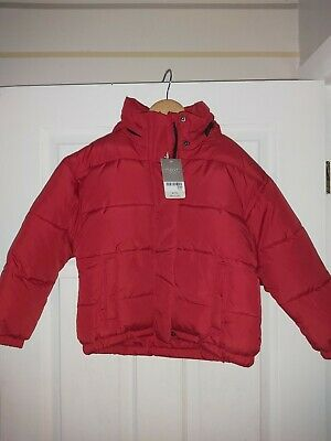 Next Gorgeous Girls Red Padded And Hooded Winter Coat Age 6 Years Bnwts