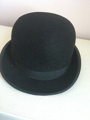Vintage Christies Black Bowler Hat Made For James Howell Cardiff Rare Felt