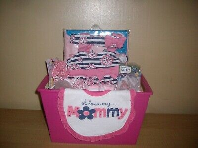 Bouncing Baby Girl Baby Shower Gift Basket or Centerpiece