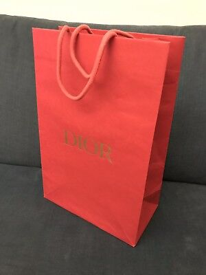 Red DIOR Shopping Bag- VGC