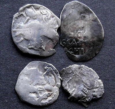 4 Genuine Medieval small silver coins coins