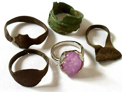 Detector Find,Roman To Medieval Rings Lot With Christmas Gift.