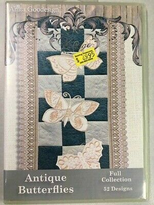Antique Butterflies Anitagoodesigns Machine Embroidery Full Collection