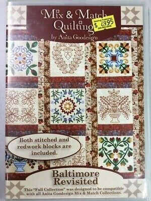 Baltimore Revisited Anitagoodesigns Machine Embroidery Mix and Match Quilting