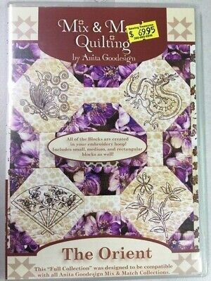 The Orient Anitagoodesigns Machine Embroidery Mix and Match Quilting