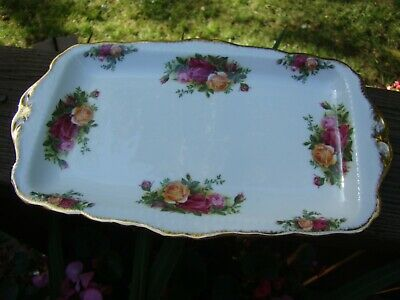 Vintage Royal Albert Old Country Roses Bone China Rectangle Serving Tray