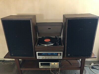 Vintage Pioneer stereo receiver SX-434 with BA 300 turntable & Pioneer CT-5212