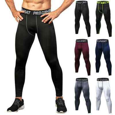 Mens Compression Pants Base Layer Long Leggings Training Workout GYM Trouser XXL